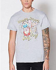 Happy Happy Joy Joy Ren and Stimpy T Shirt