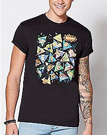 Nickelodeon Rewind Triangles T Shirt