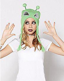 Green Alien Laplander Hat
