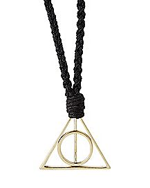 Braided Deathly Hallows Necklace - Harry Potter