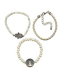 Hamsa Hand Tree of Life Bracelet 3 Pack