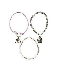 Pink Buddha Bracelet 3 Pack