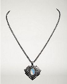 Filigree Stone Necklace