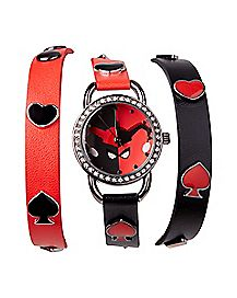 Wrapped Bracelet Harley Quinn Watch - DC Comics
