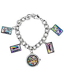 Nickelodeon Charm Bracelet With Watch Charm