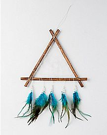 Wooden Teal Dreamcatcher