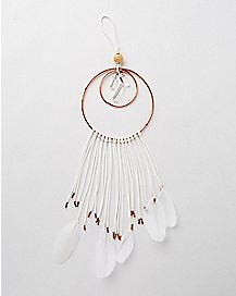 3 Ring Feather Dream Catcher