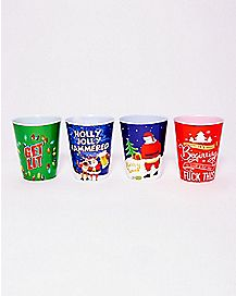 Christmas Shot Glasses 4 Pack - 2 oz.