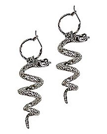 Spiral Snake Dangle Earrings
