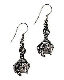Crystal Claw Dangle Earrings