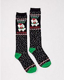 Merry Xmas Bitches Knee High Socks