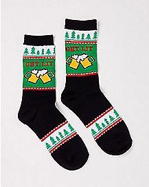 Get Lit Ugly Christmas Crew Socks