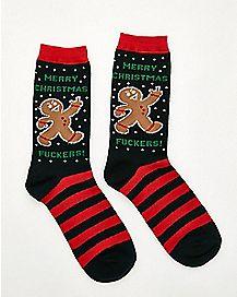 Merry Christmas Fuckers Crew Socks