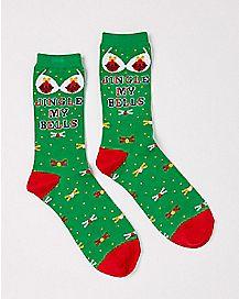 Jingle My Bells Ugly Christmas Crew Socks