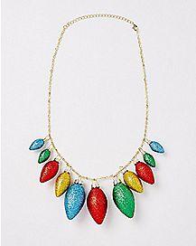 Glitter Christmas Bulb Necklace