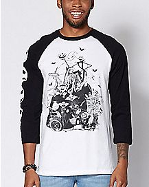 Raglan The Nightmare Before Christmas T Shirt - Disney