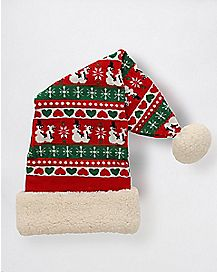 Intimate Snow People Santa Hat