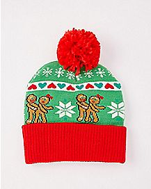 Lovin' Gingerbread Ugly Christmas Beanie Hat