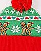 Lovin' Gingerbread Ugly Christmas Beanie Hat