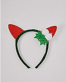 Cat Ear Christmas Headband