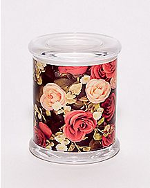 Rose Storage Jar and Ashtray - 14 oz.