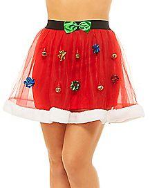 Faux Fur Tulle Christmas Skirt