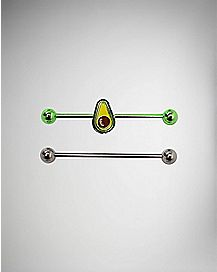 Multi-Pack Avocado Industrial Barbells 2 Pack - 14 Gauge