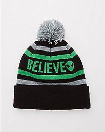 Pom Believe Alien Beanie Hat
