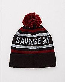 Pom Savage AF Beanie Hat