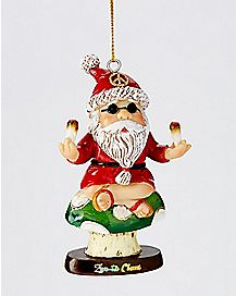 Trippy Santa Claus Christmas Ornament