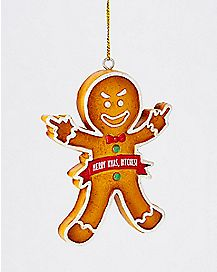 Merry Christmas Bitches Gingerbread Man Christmas Ornament
