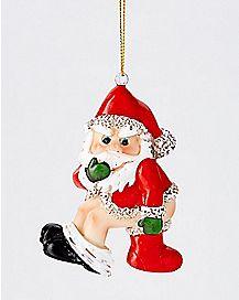 Stocking Stuffer Santa Christmas Ornament