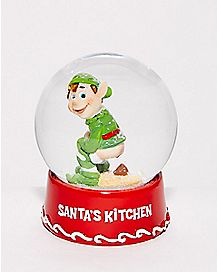 Santa's Kitchen Snow Globe