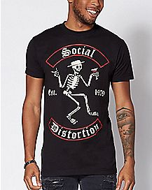 Skeleton Social Distortion T Shirt