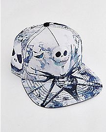 White Jack Skellington Snapback Hat - The Nightmare Before Christmas