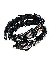 CZ Snake Wrap Bracelet