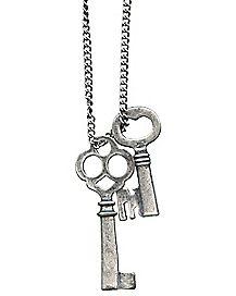 Burnished Keys Necklace