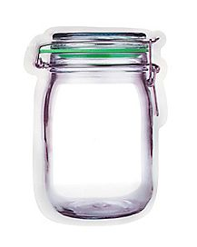 Mason Jar Storage Bags - 6 Pack