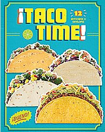 Taco Time Note Cards