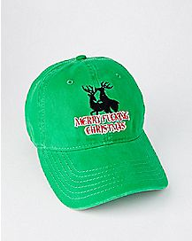 Humping Reindeer Merry Fucking Christmas Dad Hat