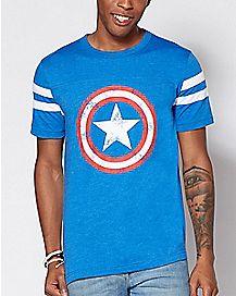 Varsity Captain America T Shirt - Marvel