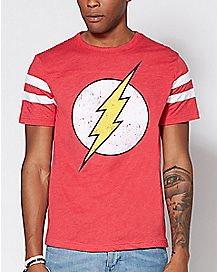 Varsity The Flash T Shirt - DC Comics