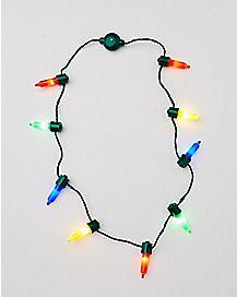 Light Up Tree Bulb Necklace