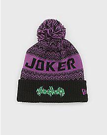 Pom Joker Beanie Hat - DC Comics