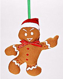 Middle Finger Gingerbread Christmas Ornament