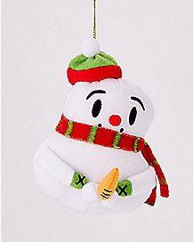 Naughty Snowman Christmas Ornament
