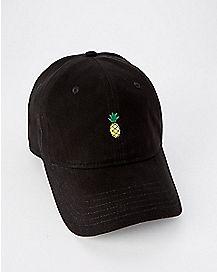 Black Pineapple Dad Hat