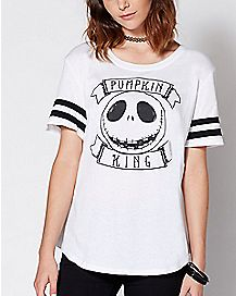 Varsity Pumpkin King Jack Skellington T Shirt - The Nightmare Before Christmas