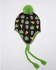 Pizza Alien Pot Leaf Laplander Hat