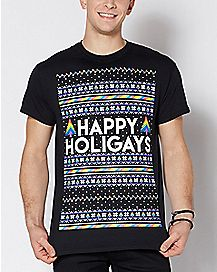 Happy Holigays Christmas T Shirt
